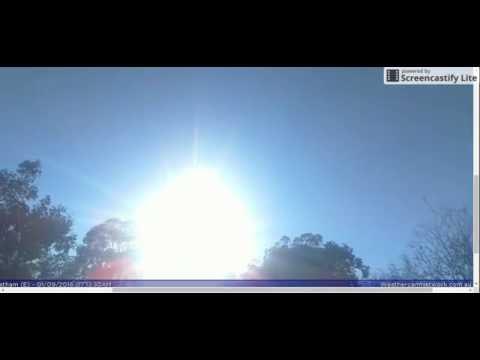 SUNRISE - ACT Canberra Webcam (E) Australia -Sept 1, 2016
