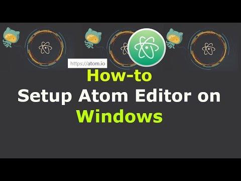 How to Setup Atom Editor on Windows 10/8/7 for Python