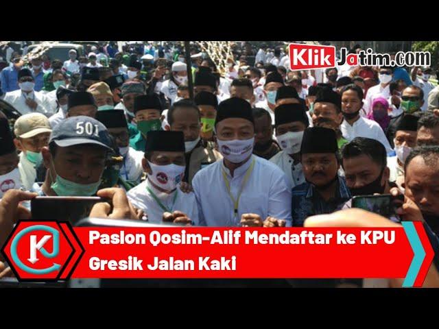 Paslon Qosim-Alif Mendaftar ke KPUD Gresik