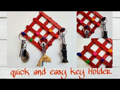 Key Holder Making | how to make key holder at home | Catchy Crafts