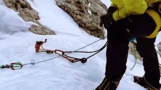 SALEWA Quick Screw Eisschraube Eiskletterer Klettern Eiswände 130mm grün