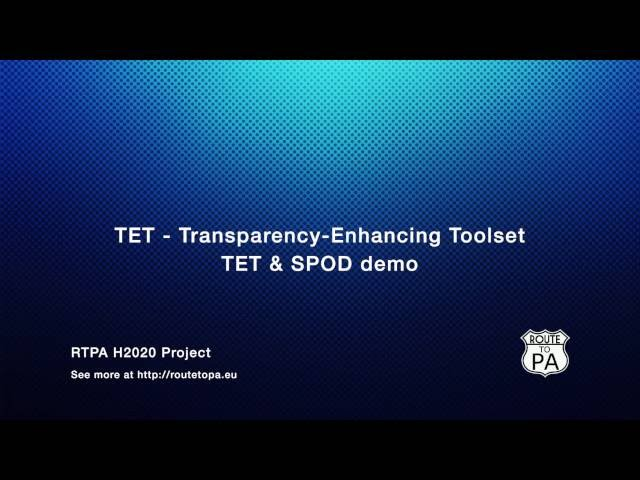 ROUTE-TO-PA project: TET and SPOD demonstration