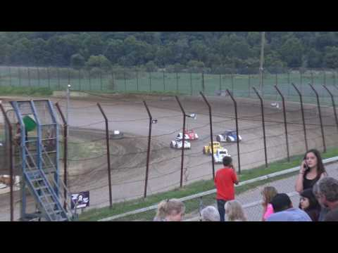 Brushcreek Motorsports Complex | 8/5/17 | Ohio Valley Roofers Legends Car Series | Heats