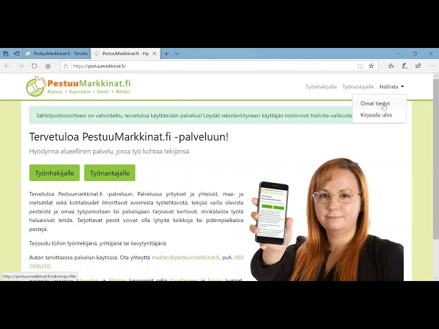 Pestuumarkkinat.fi - ohjevideo työnhakijalle