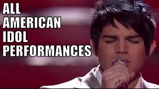 adam lamberts american idol performances