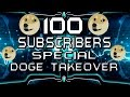 100 SUBSCRIBERS SPECIAL!! DOGE SKIN TAKESOVER SERVER WITH HAKER & BLUE