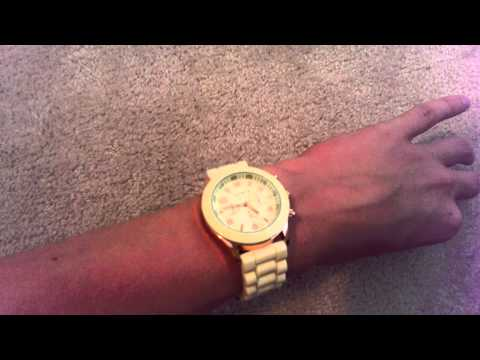 DHGate Shadow Style Geneva Watch Yellow Review