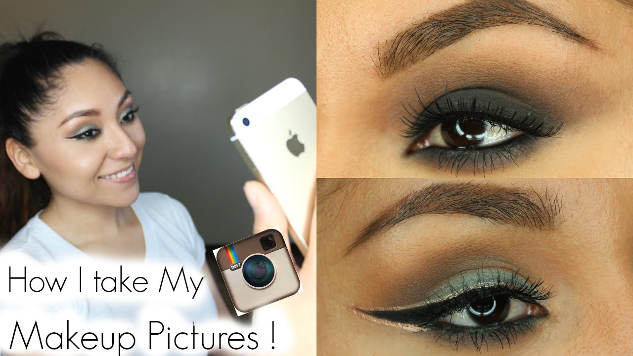 HOW I TAKE MY INSTAGRAM MAKEUP PICTURES | ITSHALO - YouTube