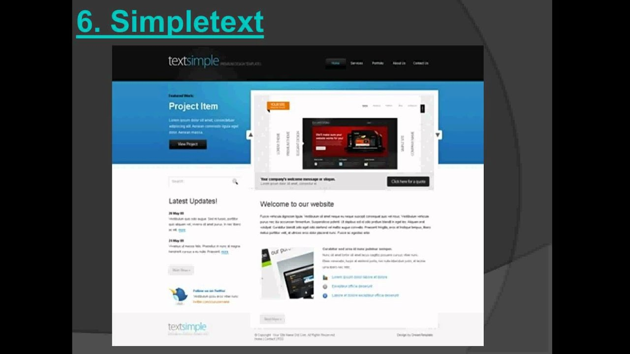 Top 7 business website templates - Cool website templates - YouTube