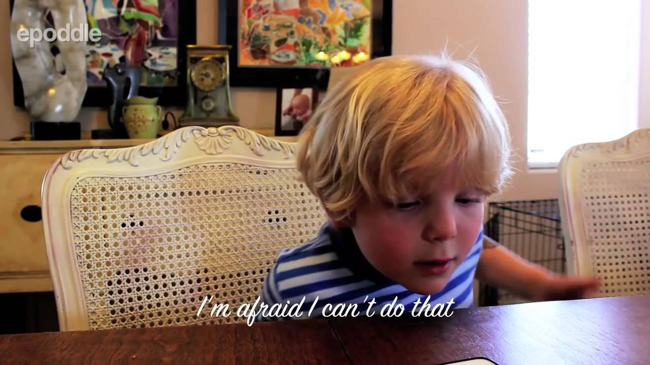5 Year Old Tries To Have A Conversation With Siri