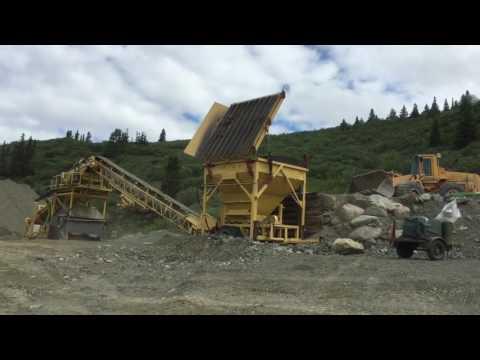 Wash Plant Sluicing At Apple Creek-Atlin BC Canada