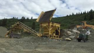 Wash Plant Sluicing At Apple Creek-Atlin BC Canada