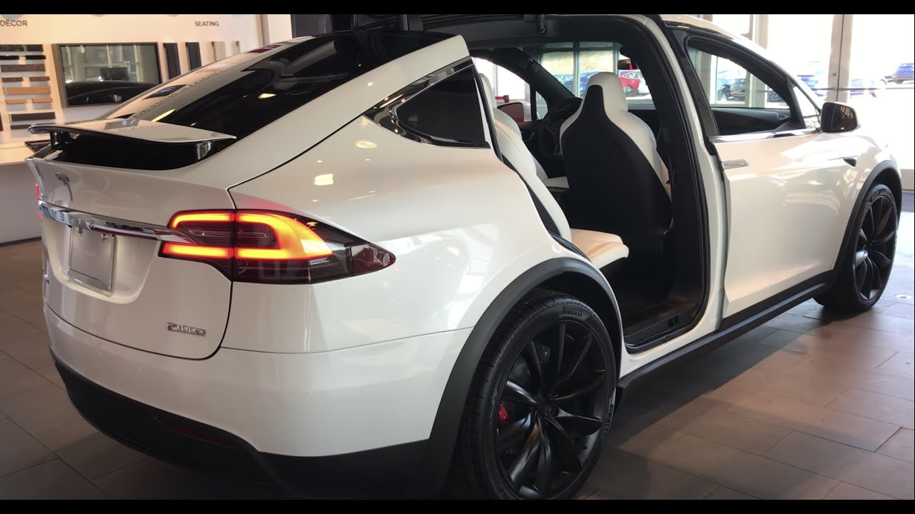 Beautiful 2019 Tesla Model X P100d White Close Up Interior And Exterior 1 Of 2 Youtube