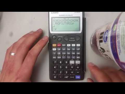 Cheating with scientific calculators!!!! Casio super-FX Plus fx-5800p