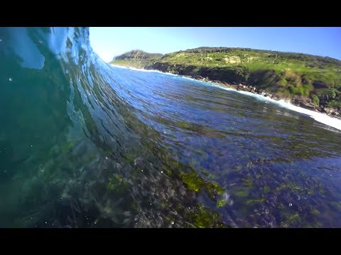 This reef is extreme.. SUPER shallow and SHARP  Bodyboarding POV