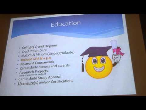 resume writing workshop part 1 youtube