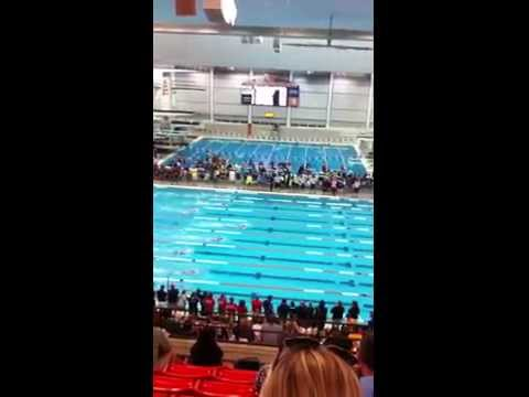Diana Dunn wins 200 Long Course Freestyle at 2014 Texas Age Group Swimming Championship