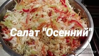 "Салат ""Осенний"" (капуста, перец, морковь) без стерелизации"