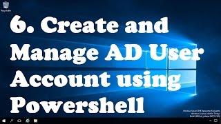 6. Erstellen und Verwalten von AD Benutzer-Konto mit Powershell
