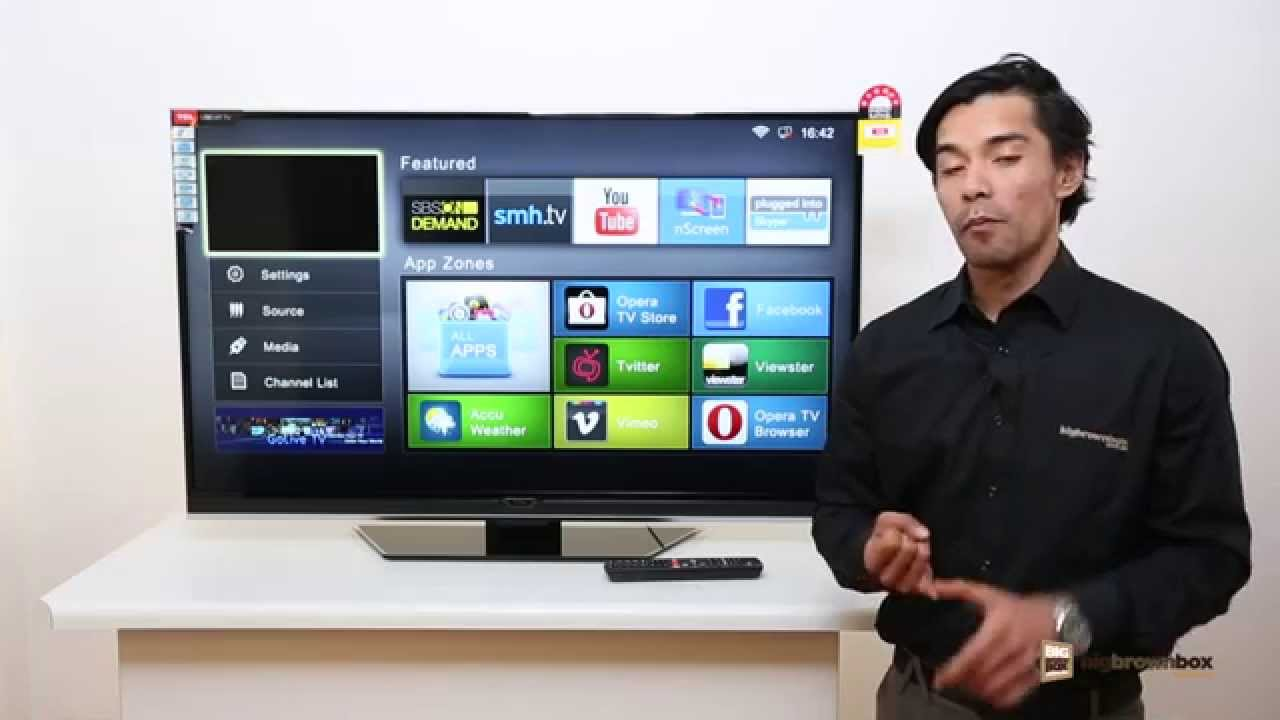 The TCL S5600FS Full HD Smart LED LCD TV with access to social media ...