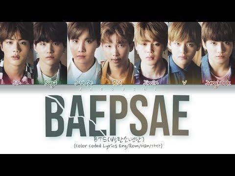 BTS - BAEPSAE (뱁새) (Try-Hard/Silver Spoon) (Color Coded Lyrics Eng/Rom/Han/가사)
