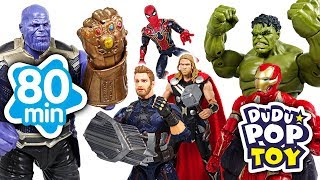 April 2018 TOP 10 Videos 80min Go! Avengers, Power ranger, PJmasks and Transformers - DuDuPopTOY