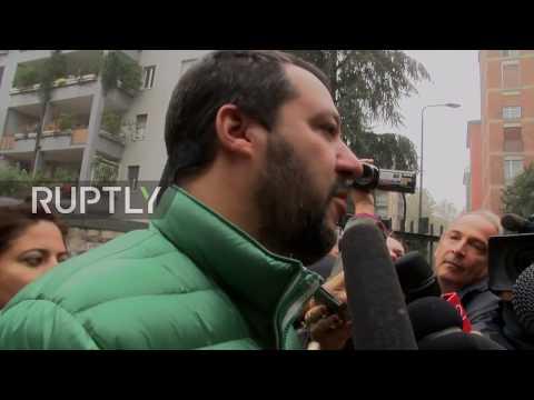 Italy: Lega Nord's Salvini casts vote in landmark autonomy referendum