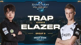 Trap vs Elazer PvZ - Group D Decider - 2019 WCS Global Finals - StarCraft II