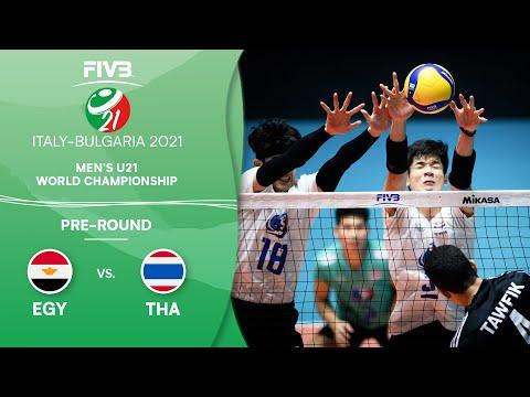 LIVE 🔴 EGY vs. THA - Pre-Round | Men's U21 Volleyball World Champs 2021