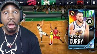 101 OVR FINALS GAME 1 STEPH CURRY IS A CHEAT CODE! NBA Live Mobile 18 Gameplay Pack Opening Ep. 55