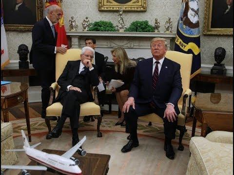 Donald Trump and Italian president Sergio Mattarella hold news conference – watch live