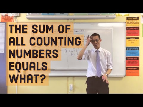 The sum of all counting numbers equals WHAT?