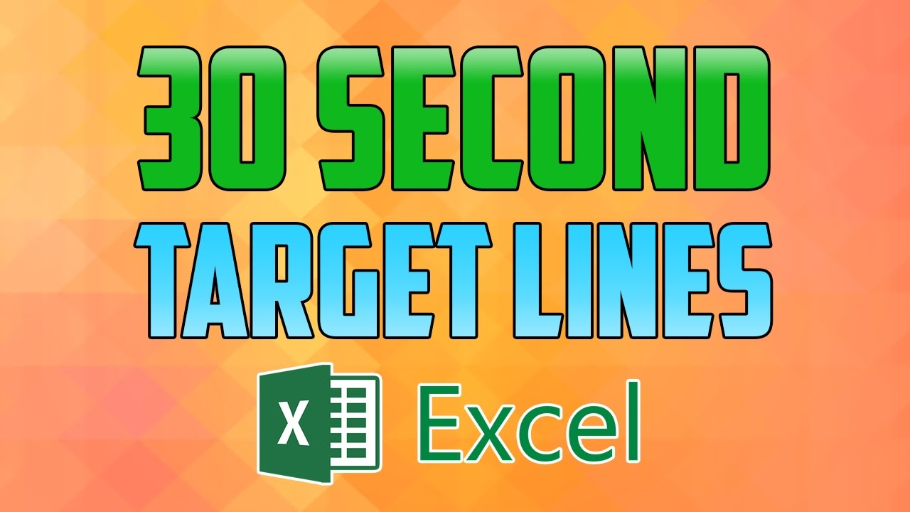 also excel how to add target lines  chart graph youtube rh