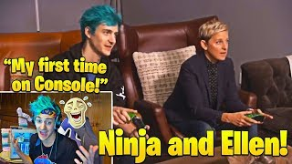 Ninja Laughs Watching His FIRST Time on Console playing Duos With Ellen! Mp3