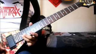 Anthrax - Metal Thrashing Mad (cover guitar /with solo)