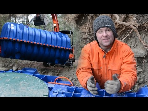 Underground POTABLE WATER STORAGE TANKS - Our Off Grid Water System