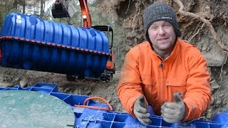 Underground POTABLE WATER STORAGE TANKS - Our Off Grid Water System Video