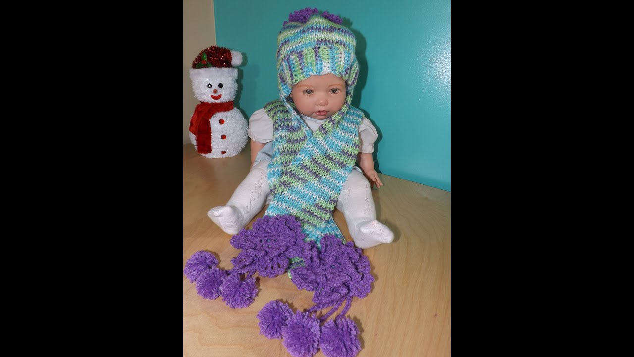 Crochet bufanda y gorro para niña en crochet tuneciano , con Ruby Stedman