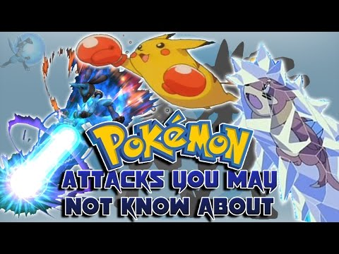 Pokémon Moves That Aren't in the Video Games