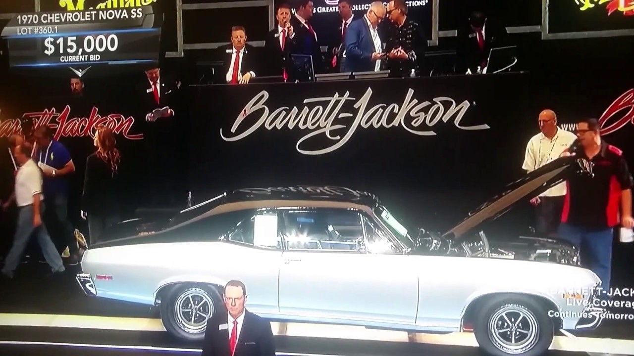 Barrett-Jackson car auction,1970 Chevrolet Nova SS , Classic car ...