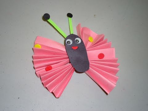 How to make a construction paper butterfly ep - Manualidades con papel ...