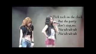 SNSD Jessica, F(x) Krystal- Tik Tok Lyrics