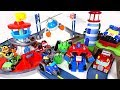 Villains appeared on Lookout Tower track set! Go! Paw Patrol, Transformers Rescue Bot! - DuDuPopTOY
