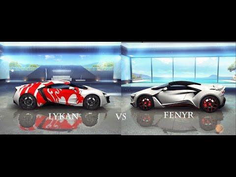 Lykan Hypersport  vs Fenyr Supersport (Asphalt 8 PC Gameplay)