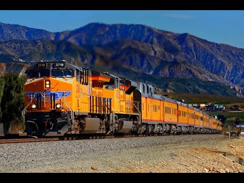 Special Trains - Union Pacific, BNSF and Amtrak in the Los Angeles area.