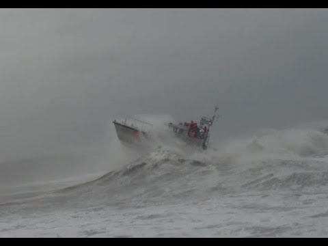 47-foot Motor Lifeboat MLB - Coast Guard Station Barnegat Light Heavy Weather Training