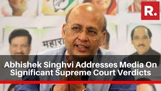 Abhishek Singhvi Addresses Media Following Multiple Significant Supreme Court Verdicts