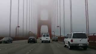 Driving through the clouds! The Golden Gate Bridge entirely engulfed with clouds!