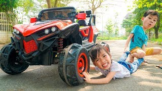 Kids Go to School Learn Unboxing and assembling gift present cool car for Kuzin