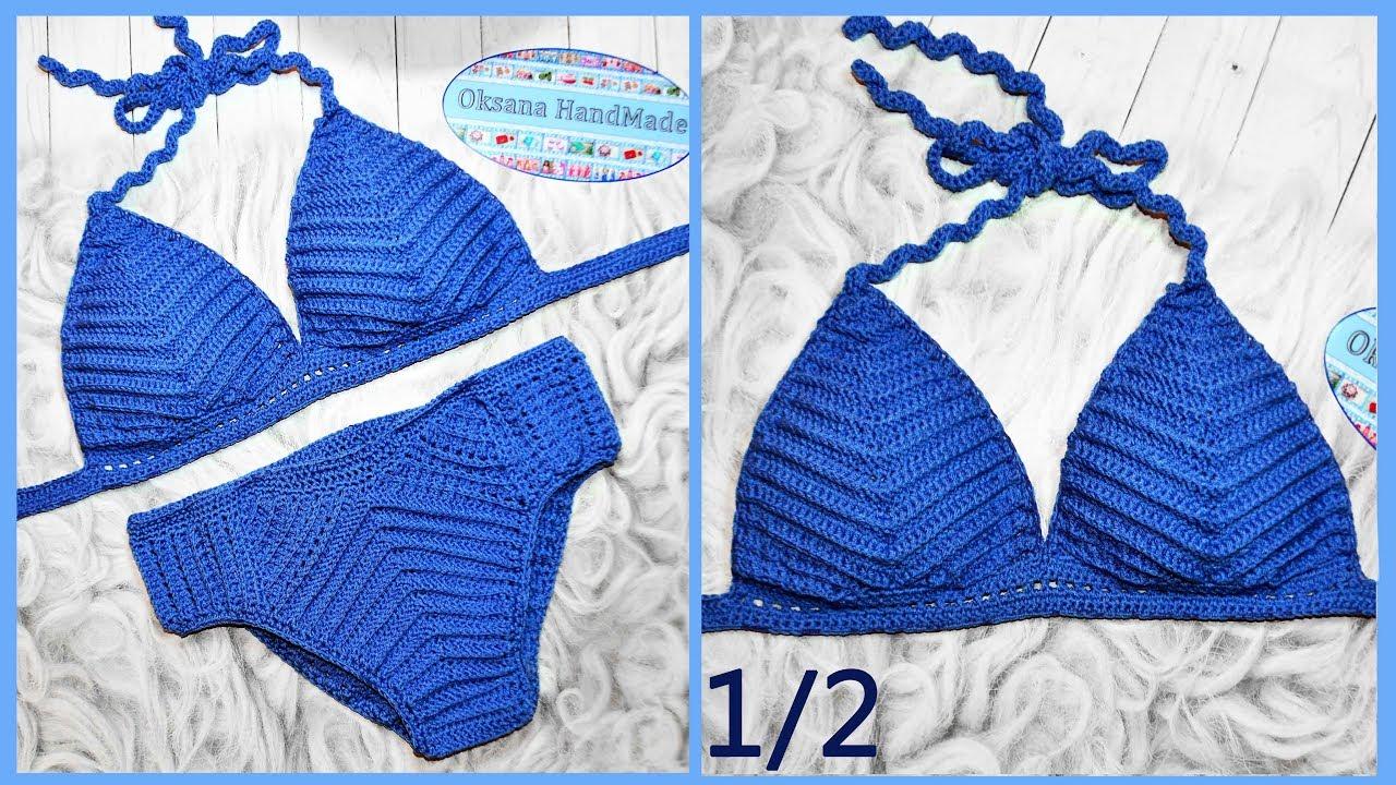 купальник крючком 12 мастер класс Crochet Swimsuit Youtube
